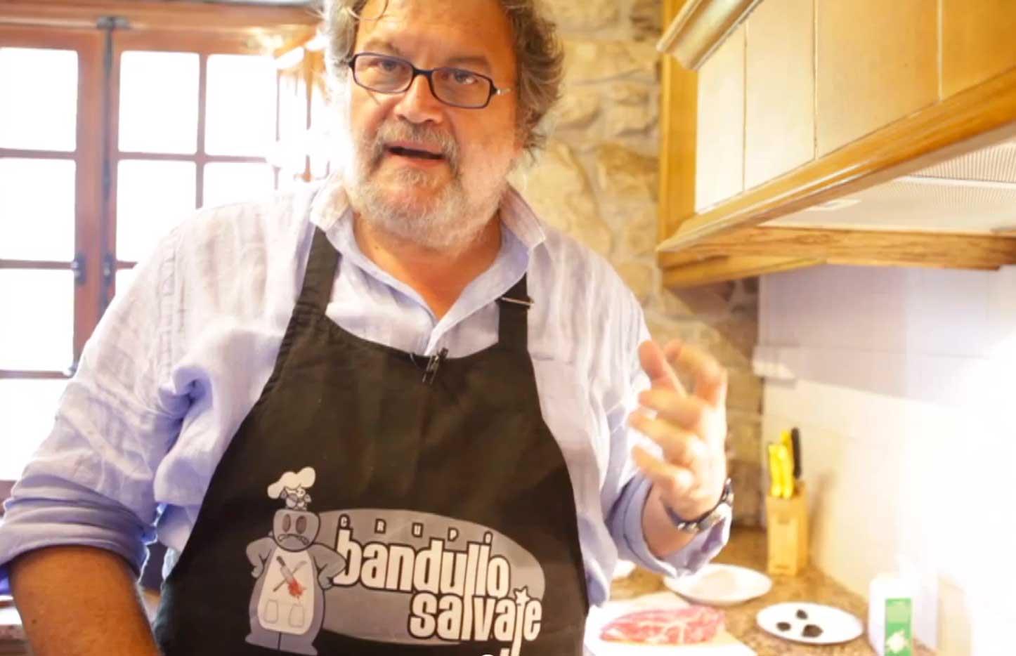 """""""Presa ibérica con salsa de Amandi o con mantequilla de vino tinto"""", con J. Luis Oliveira"""