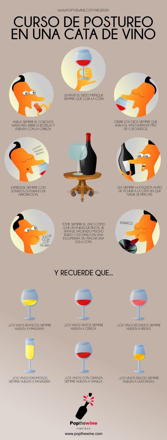 Posturas en catas de vino